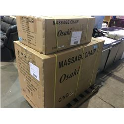 NEW IN BOX OSAKI MODEL OS 4000 MASSAGE CHAIR - CREAM