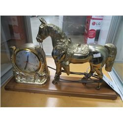 DECORATIVE HORSE CLOCK