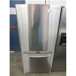 """SAMSUNG SS FRIDGE WITH ROLL OUT FREEZE MODEL RB196ACRS (32""""W X 27""""D X 69.75""""H )/GUARANTEED GOOD WORK"""