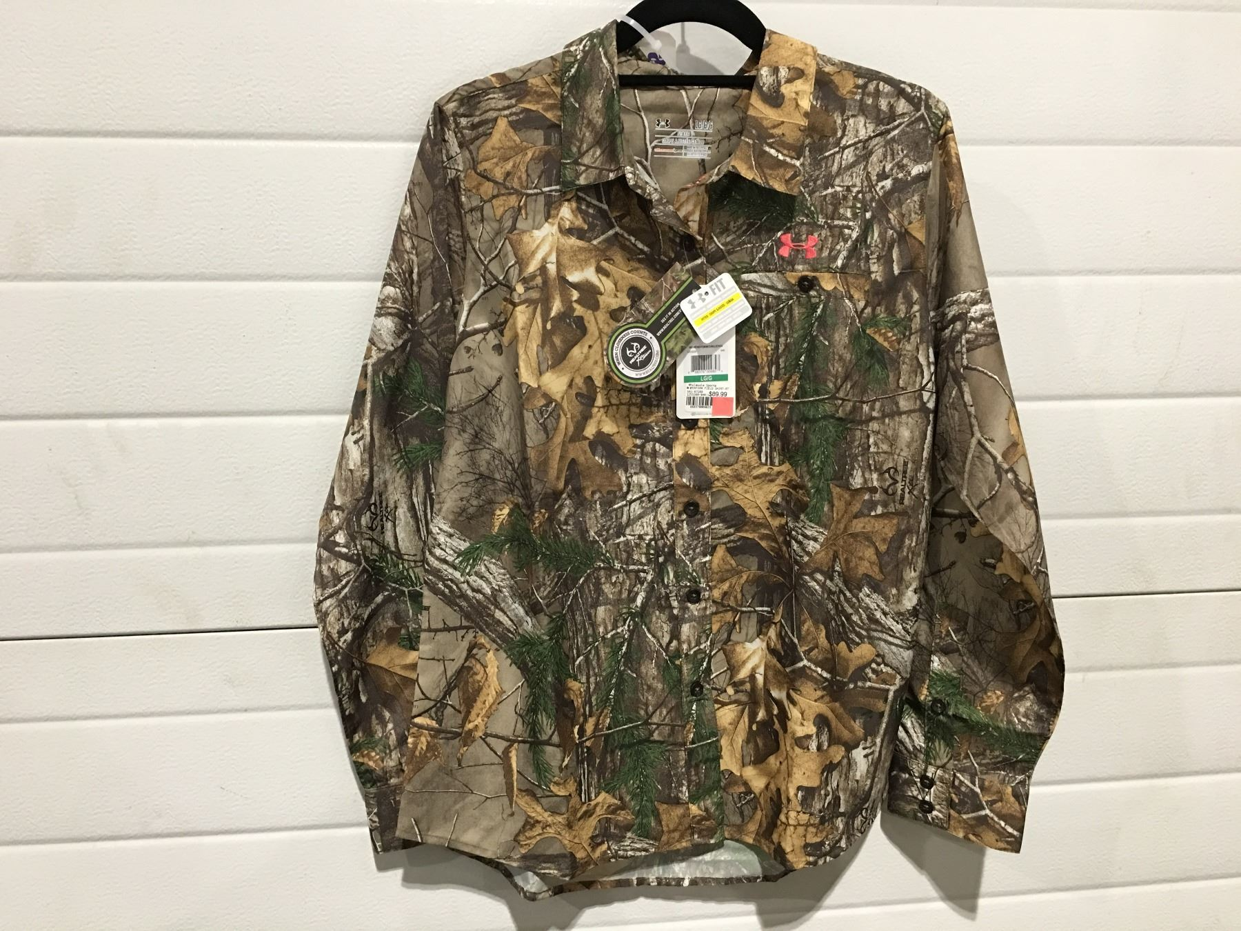 f964ff670 Image 1 : WOMEN'S UNDER ARMOUR FOREST CAMO FIELD SHIRTSIZE L