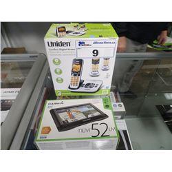 GARMIN NUVI 52LM GPS & UNIDEN CORDLESS PHONE