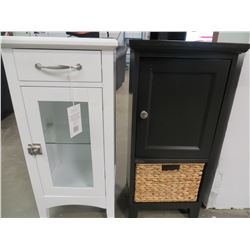 """2 SMALL STANDING FLOOR CABINETS 14""""W X 11.25""""D X 29.75""""H"""