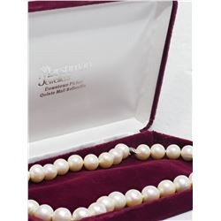 """STERLING SILVER GENUINE FRESHWATER PEARL (10-12MM) NECKLACE 17"""" INSURANCE VALUE $1080"""