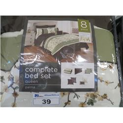 PALMA 8 PC QUEEN SIZE COMPLETE BED SET