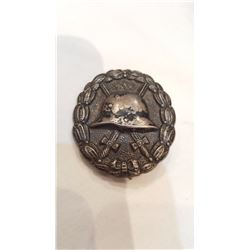 "Nazi Silver Wound Badge (Swastika Ground off) ""De-Nazified"""