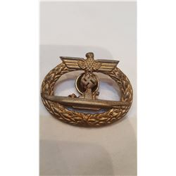 German Kriegsmarine Submarine Warfare Badge