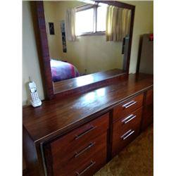 Lane Vintage 60's 5 PC Walnut Bedroom Suite