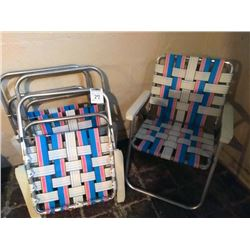 Set of 4 Lawn Chairs
