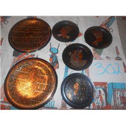 6 Assorted Egyptian High Quality Metal Plates