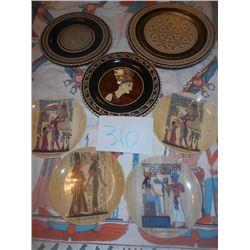 7 Egyptian Plates