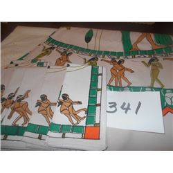Egyptian Oval Table Cloth w/ 6 Napkins
