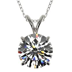 2.03 CTW Certified H-SI/I Quality Diamond Solitaire Necklace 10K White Gold - REF-567W3H - 36808