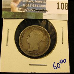 1890-H CANADIAN QUARTER.  THIS IS A BETTER DATE COIN.  IT BOOKS FOR AROUND $60 IN THIS CONDITION