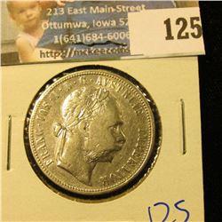 1879 AUSTRIA SILVER 1 FLORIN COIN