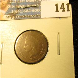 1866 INDIAN HEAD PENNY