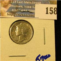 1921 KEY DATE MERCURY DIME