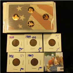 2009 PROOF LINCOLN PENNIES.  THERE ARE 4 PROOFS IN THIS SET.  ONE FOR EACH PENNY MINTED THAT YEAR.