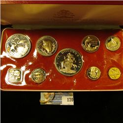 COMMONWEALTH OF THE BAHAMAS 1973 SILVER PROOF SET.  THE SET INCLUDES A STERLING SILVER FIVE DOLLAR C