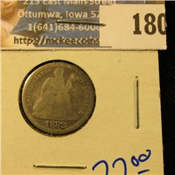1882 SEATED LIBERTY DIME