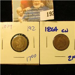 1859 AND 1864 CN INDIAN HEAD PENNIES