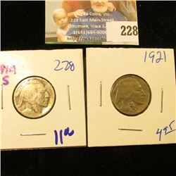 1921 AND KEY DATE 1914-S BUFFALO NICKELS