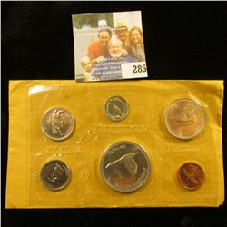 1967 CANADIAN MINT SET.  THE DOLLAR, HALF DOLLAR, QUARTER, AND DIME ARE ALL SILVER