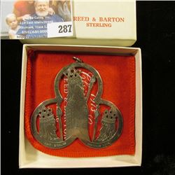 STERLING SILVER THREE WISE MEN ORNAMENT DATED 1973.  IT WAS MADE BY REED & BARTON AND COME WITH GIFT