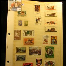FOREIGN STAMP LOT INCLUDES STAMPS FROM AUSTRALIA, SWITZERLAND, CZECHOSLOVAKIA, TUNISIA, DENMARK, ARG