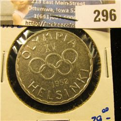 FINLAND 1952 SILVER 500 MARKAA MINTED FOR THE OLYMPIC GAMES