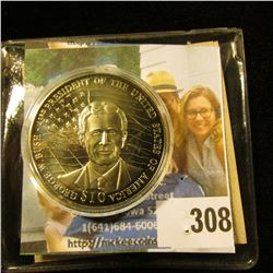 2001 Republic of Liberia $10 George W. Bush 43rd President of the United States of America Commemora