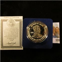 "2005 ""Inaugural Silver Proof…Struck by The Washington Mint, contains one full ounce of .999 pure sil"