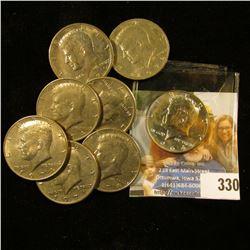 1964 P Kennedy Silver Proof Half Dollar; (3) 1971 P, 72 P, & (3) 1974 P Kennedy Half Dollars, Circul