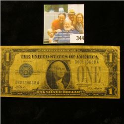 "Series 1928 U.S. One Dollar Silver Certificate ""Funny Back""."