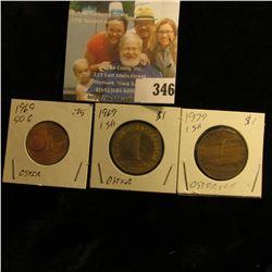 1969 & 79 Austria One Shilling coins & 1969 50 Groschen.