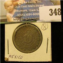 1936 Mexico Ten Centavos.