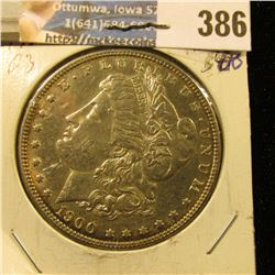 1900 P U.S. Morgan Silver Dollar, Gem BU.