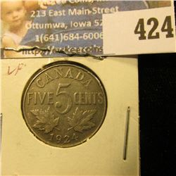 1924 Canada Nickel, VF.