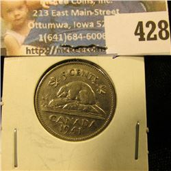 1941 Canada Nickel, EF.