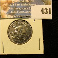 1951 Canada Nickel, Unc.