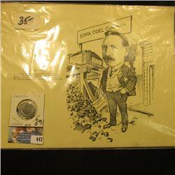 "Circa 1910 Des Moines Co., Iowa 9"" x 11"" Advertising card ""H. Ed. Beard. In Summer the Fuel man's jo"