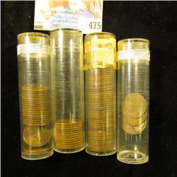 (22) 1926D, (3) 27D, (12) 27S, & (39) 1931 P Lincoln Cents, all stored in plastic tubes.