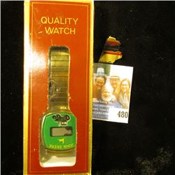 John Deere Wristwatch, not running but appears new in the box. 'Doc' has it labeled as needing Energ