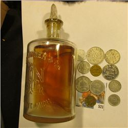 "Embossed bottle with glass stopper ""E.N. Lightner & Co. Detroit, Michigan"" & (11) different Good For"