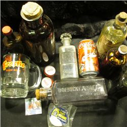 Group of Old Medicine Bottles, Mug and etc.