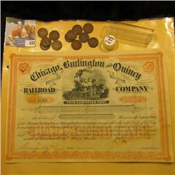 """United States of America Chicago, Burlington and Quincy State of Illinois Railroad Company"" Stock C"