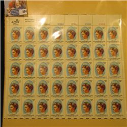"""Mint Sheet of 50 Thirteen Cent Stamps United States Postage """"Clara Maas She Gave Her Life""""; & 1932 M"""