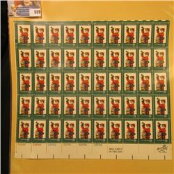 """Sheet of 50 Eight Cent Stamps United States Postage """"Twas The Night Before Christmas""""; & 1932 Mint S"""