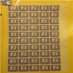 """Mint Sheet of 50 Four Cent Stamps United States Postage """"The American Woman""""; & 1932 Mint Sheet of 1"""