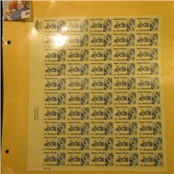 """Mint Sheet of 50 Six Cent Stamps United States Postage """"Woman Suffrage 50th Anniversary""""; & (2) 1932"""