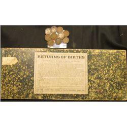 "1880-83 Record Book ""Return of Birth…Davenport, Iowa"", ""State of Iowa, Monona County State Board of"